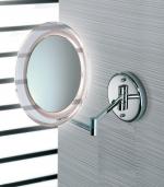 Зеркала косметические с подсветкой увеличением настенные настольные Зеркала с присосками. Marie Nicol косметическое зеркало с подсветкой LED и увеличением 5-ти кратным настенное с прямым подключением без провода