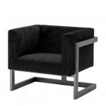 Кресла. Eichholtz Chair Mendoza кресло чёрное