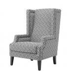 Кресла. Eichholtz Chair Eleventy кресло чёрно-белое