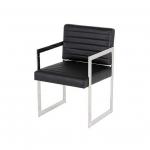 Офисные кресла и стулья. Eichholtz Aspen офисное кресло чёрное кожаное