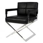 Офисные кресла и стулья. Eichholtz Cross офисное кресло чёрное кожаное
