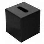 Салфетницы настольные настенные. Colombo Black & White салфетница настольная кожаная Чёрная Куб