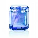 Контейнеры для ватных Дисков Шариков Палочек. Kristall Saphirre blue Decor Walther Настольные аксессуары для ванной хрустальные контейнер для ватных палочек дисков шариков синие