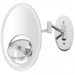 Зеркала косметические с подсветкой увеличением настенные настольные Зеркала с присосками. GISELA Nicol косметическое зеркало Трёхстороннее с увеличением 1х1, 1х3 и 1х8