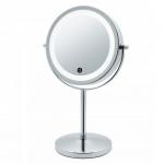 Зеркала косметические с подсветкой увеличением настенные настольные Зеркала с присосками.   JANINA косметическое зеркало двухстороннее с подсветкой LED от батареек и пятикратным увеличением настольное