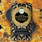 Luxury Гель для душа Мыло. NESTI DANTE Luxury BLACK Soap мыло с углём чёрное 250 гр