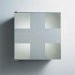 Зеркальные шкафчики Аптечки. Agape аптечка со стеклянной дверцей и полкой настенная Barralibera