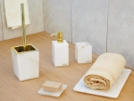 Аксессуары для ванной настольные. Blanca Alabaster аксессуары для ванной из натурального камня настольные золотой декор