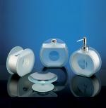 Аксессуары для ванной настольные. CIRCLE Nicol стеклянные настольные аксессуары для ванной