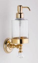 Аксессуары для ванной с кристаллами Swarovski. Аксессуары для ванной с кристаллами Swarovski Rifles дозатор настенный золотой