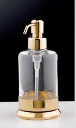 Аксессуары для ванной с кристаллами Swarovski. Аксессуары для ванной с кристаллами Swarovski Rifles дозатор настольный золотой