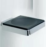 Аксессуары для ванной настенные. Ardesia Аксессуары для ванной чёрные настенные мыльница натуральный чёрный Сланец