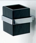 Аксессуары для ванной настенные. Ardesia Аксессуары для ванной чёрные настенные стакан натуральный чёрный Сланец