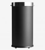 Офисные вёдра Корзины для бумаг Урны. Корзина с роликами универсальная металлическая Чёрная без крышки