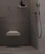 Банкетки для ванной Пуфы Интерьерные Табуреты для душа и ванной Откидные сиденья. Duschsitz сиденье для душа мягкое Белое