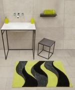 Коврики для ванной комнаты. Aurelia коврик для ванной с декором Apple-grey-black
