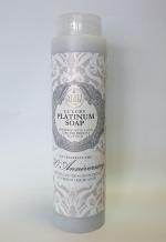 Luxury Гель для душа Мыло. NESTI DANTE 70-TH ANNIVERSARY Luxury PLATINUM Soap Юбилейное Платиновое гель для душа 300 мл
