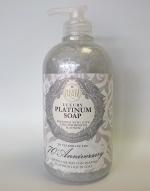 Luxury Гель для душа Мыло. NESTI DANTE 70-TH ANNIVERSARY Luxury PLATINUM Soap Юбилейное Платиновое жидкое мыло 500 мл