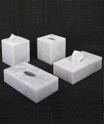 Салфетницы настольные настенные. Аксессуары для ванной из натурального камня Алебастр Alabaster Tissuue Box салфетницы