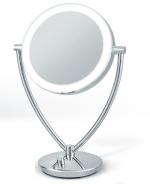 Зеркала косметические с подсветкой увеличением настенные настольные Зеркала с присосками. Fiona настольное двухстороннее косметическое зеркало с подсветкой LED и увеличением 1х1 и 1х5