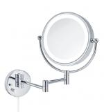 Зеркала косметические с подсветкой увеличением настенные настольные Зеркала с присосками. Katja настенное косметическое двухстороннее зеркало с подсветкой LED и увеличением 1х3 и 1х7