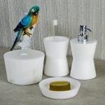 Аксессуары для ванной настольные. Alabaster 3 аксессуары для ванной Алебастровые белые