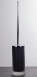 Аксессуары для ванной настольные. Baltic Nicol Ёршик для унитаза напольный длинный стеклянный чёрный