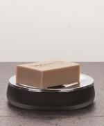 Аксессуары для ванной настольные. Baltic настольные Аксессуары для ванной стеклянные чёрные Мыльница