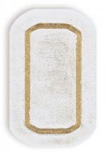 Коврики для ванной комнаты. Коврик для ванной комнаты CLASSIC Nicol белый люрекс золотой