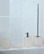 Аксессуары для ванной настольные. Cube Аксессуары для ванной белые
