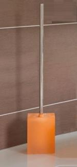 Ёршики для унитаза напольные и настенные. Cube длинный ёршик для унитаза напольный Оранжевый