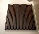 Деревянные коврики и решётки для душа и ванной комнаты. Деревянная решётка для душа и ванны Wood тёмная