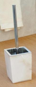 Ёршики для унитаза напольные и настенные. Blanca Nicol Alabaster ёршик для унитаза напольный из натурального камня квадратный