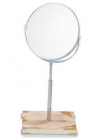 Зеркала косметические с подсветкой увеличением настенные настольные Зеркала с присосками.  Зеркало косметическое настольное Horn & lacquer Ivory by Arca