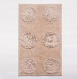 Коврики для ванной комнаты.  Хлопковый коврик для ванной с декором Etu биохлопок Bio-Baumwolle