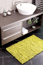 Коврики для ванной комнаты.  Хлопковый коврик Chenille Loop