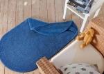 Коврики для ванной комнаты.  Хлопковый коврик для ванной комнаты Duo Cotton двухсторонний синий
