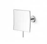 Зеркала косметические с подсветкой увеличением настенные настольные Зеркала с присосками. Зеркало для ванной косметическое настенное с 3-х кратным увеличением квадратное Lineabeta