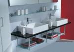 Мебель для ванной комнаты. SYNTHESIS мебель для гостевого санузла, Венге, две раковины