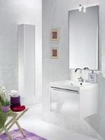 Мебель для ванной комнаты. QUIZ мебель для гостевого санузла, белый