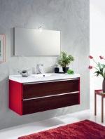 Мебель для ванной комнаты. QUIZ мебель для гостевого санузла, красный