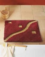 Коврики для ванной комнаты. Panama Nicol Коврик для ванной комнаты квадратный с золотым люрексом