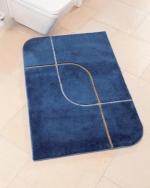 Коврики для ванной комнаты на заказ из Германии Индивидуального дизайна и размера. Коврик для ванной Tamina Nicol с золотым серебряным люрексом. Индивидуальное производство на заказ