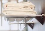 Полки для душа Сетки Полки для ванной стеклянные Полки для полотенец. Полка для полотенец Kubic PomdOr