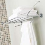 Полки для душа Сетки Полки для ванной стеклянные Полки для полотенец. Полка для полотенец Ona PomdOr