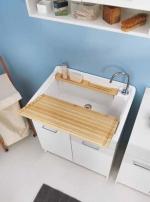 Итальянские постирочные раковины Мебель и оборудование для постирочной комнаты. Мебель для постирочной раковина постирочная большая Colavene LM Bianco 75 см