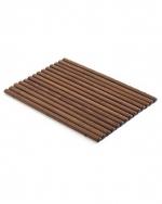 Деревянные коврики и решётки для душа и ванной комнаты. Деревянный коврик для ванной тёмный ENHOLZ