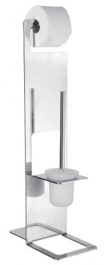 Стойки напольные для туалетной бумаги с полотенцедержателем и ёршиком. CATANIA стойка с ёршиком для унитаза и бумагодержателем