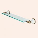 Полки для душа Сетки Полки для ванной стеклянные Полки для полотенец. Полка стеклянная 71 см TW Harmony TWHA018bi/br