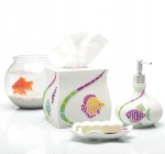 Аксессуары для ванной настольные. Fish Fantasy керамические настольные аксессуары для ванной